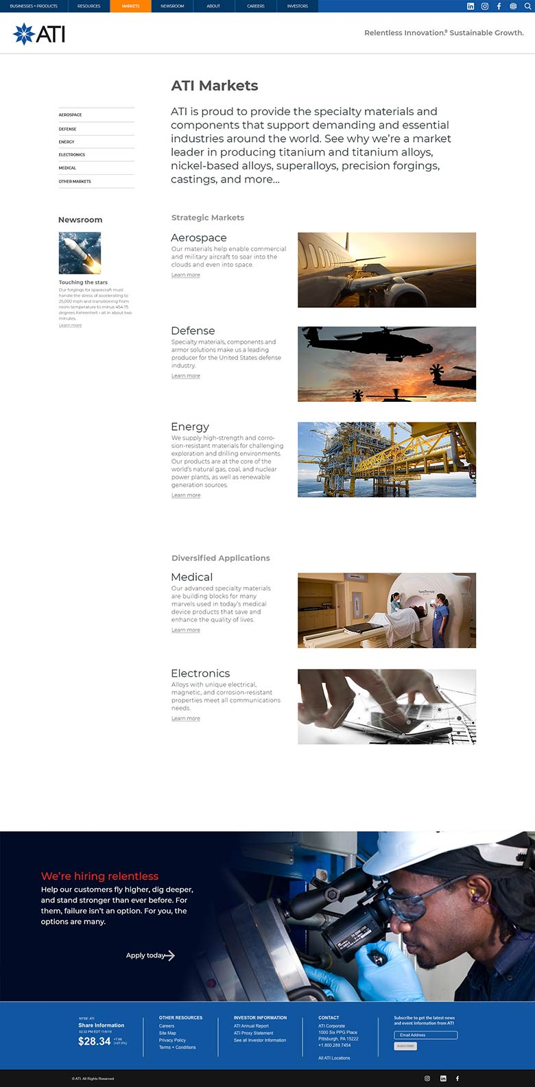 ATI website design